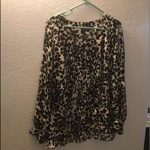Black and white sheer blouse by George 2x